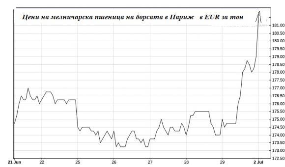 Ценова експлозия на житните пазари в Европа