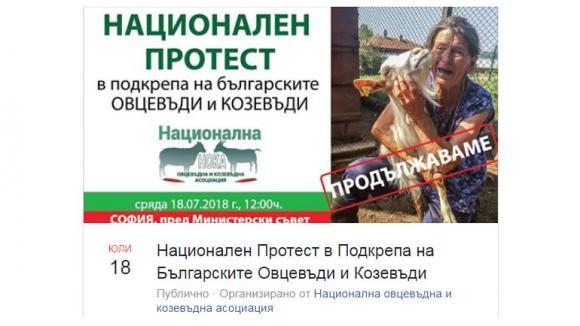 Протестът на овцевъди и козевъди се мести в София