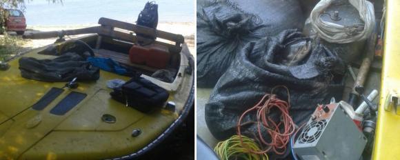 Иззеха автомобил, лодка и колесар на бракониери по Дунава