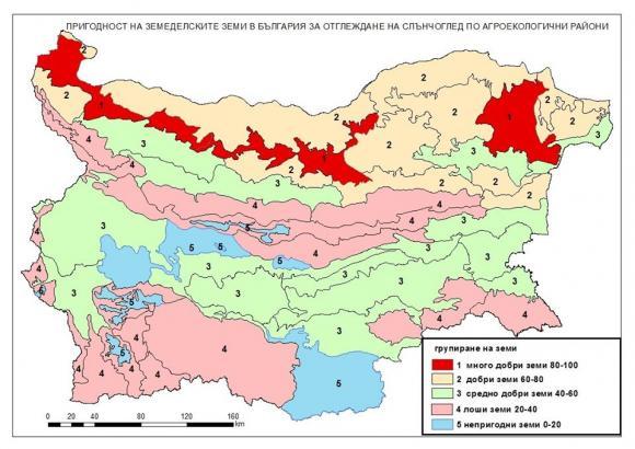 Актуална карта на почвите показва къде да се отглежда слънчоглед при неполивни условия