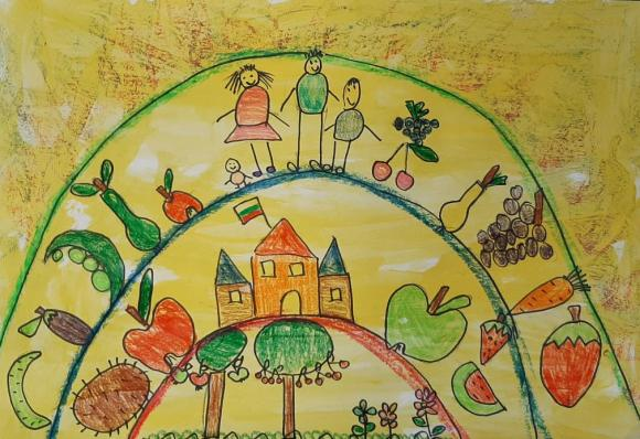Одобрените детски рисунки в конкурса за здравословна храна