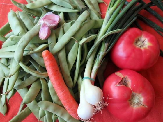 Зелен фасул и моркови със сметана